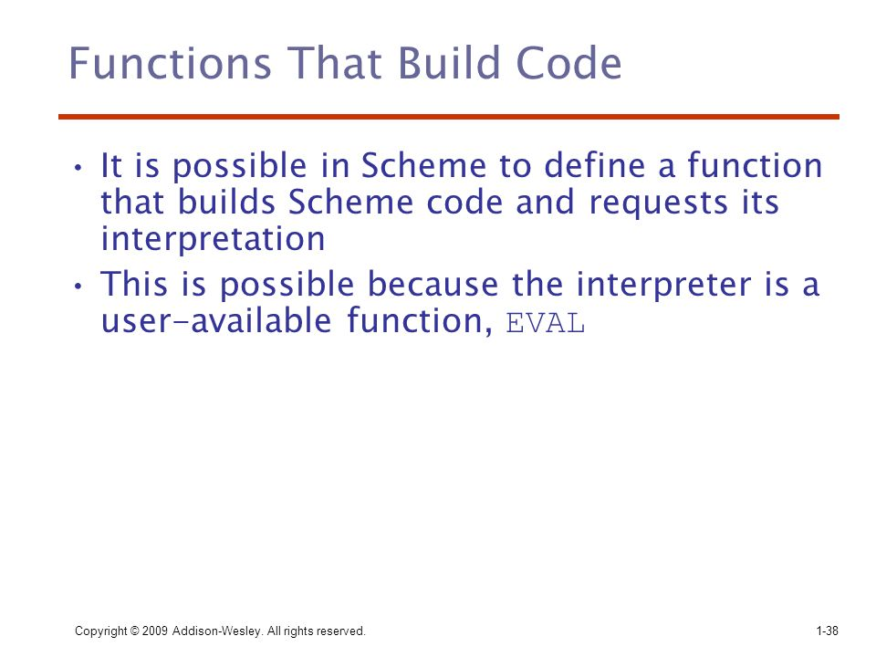 Functions That Build Code