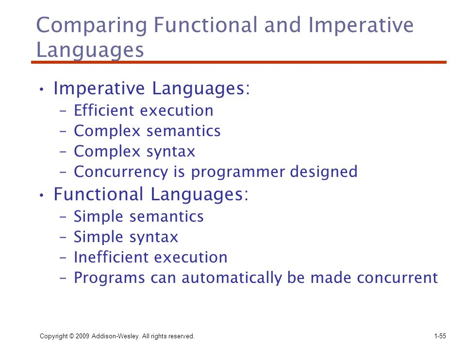 Comparing Functional and Imperative Languages
