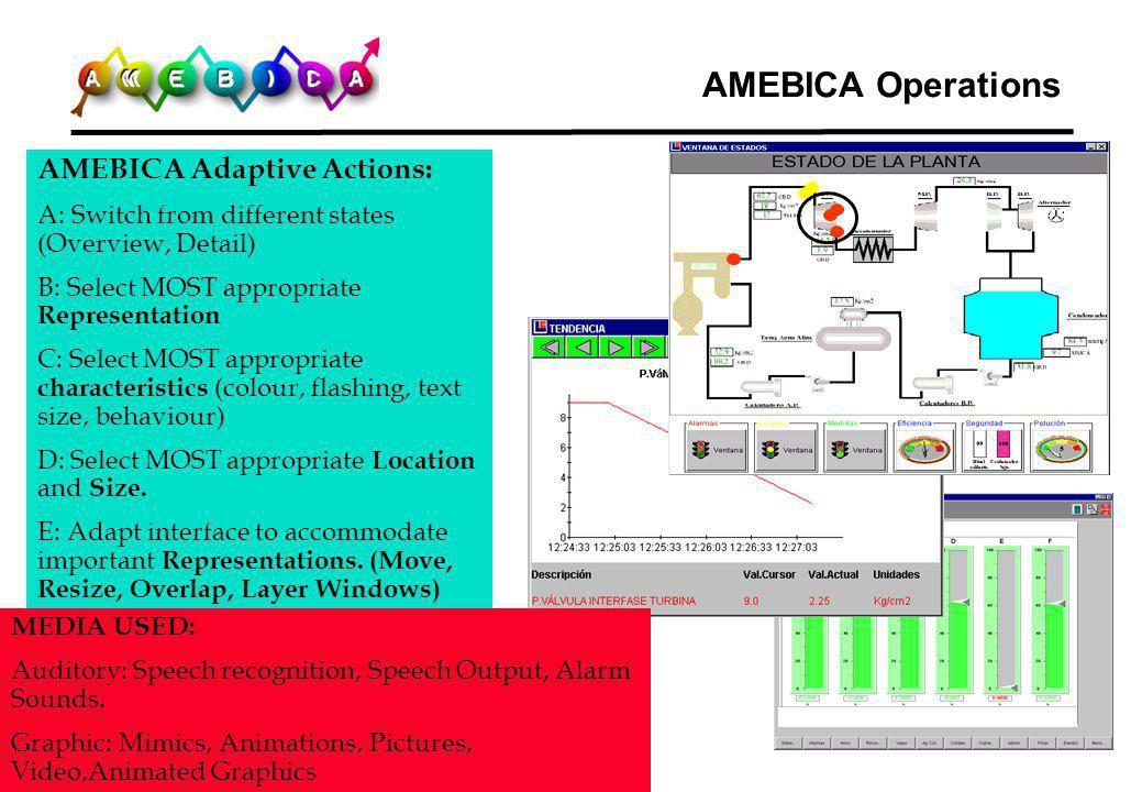 AMEBICA Operations AMEBICA Adaptive Actions: