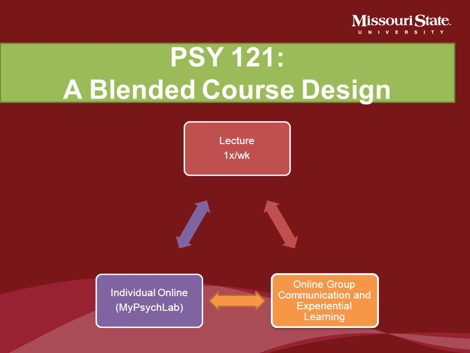 PSY 121: A Blended Course Design