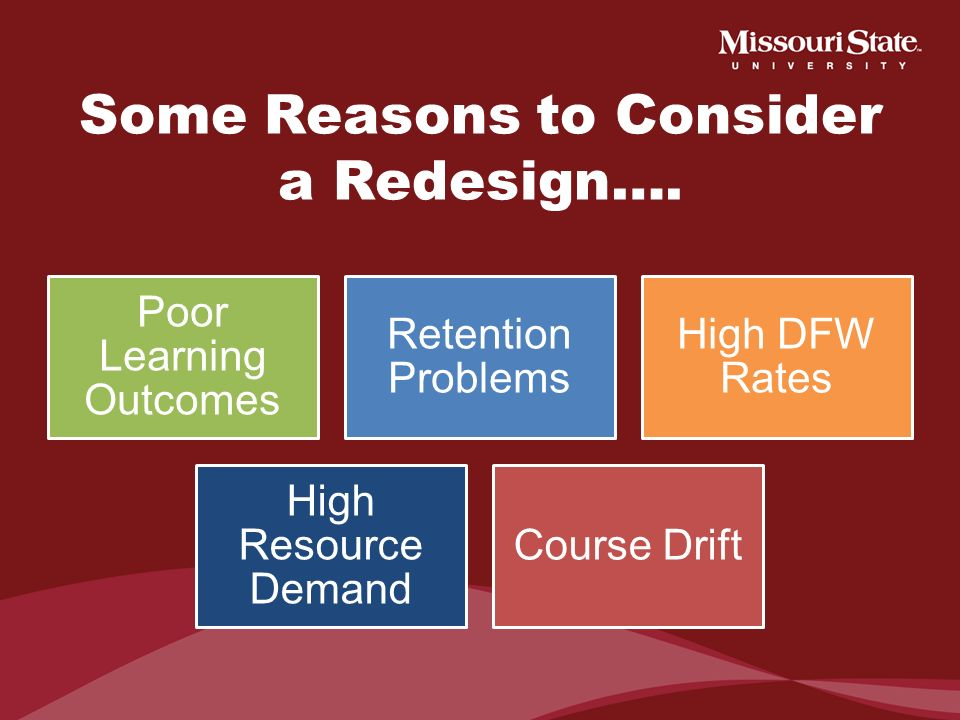 Some Reasons to Consider a Redesign….