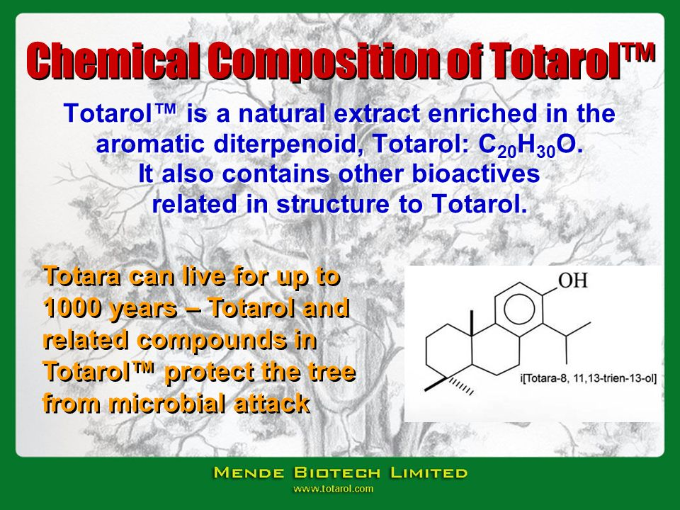 Chemical Composition of Totarol™