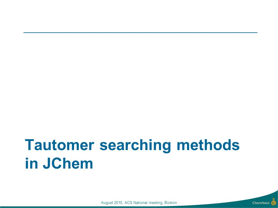 Tautomer searching methods in JChem