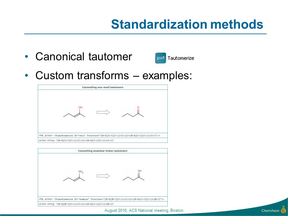 Standardization methods