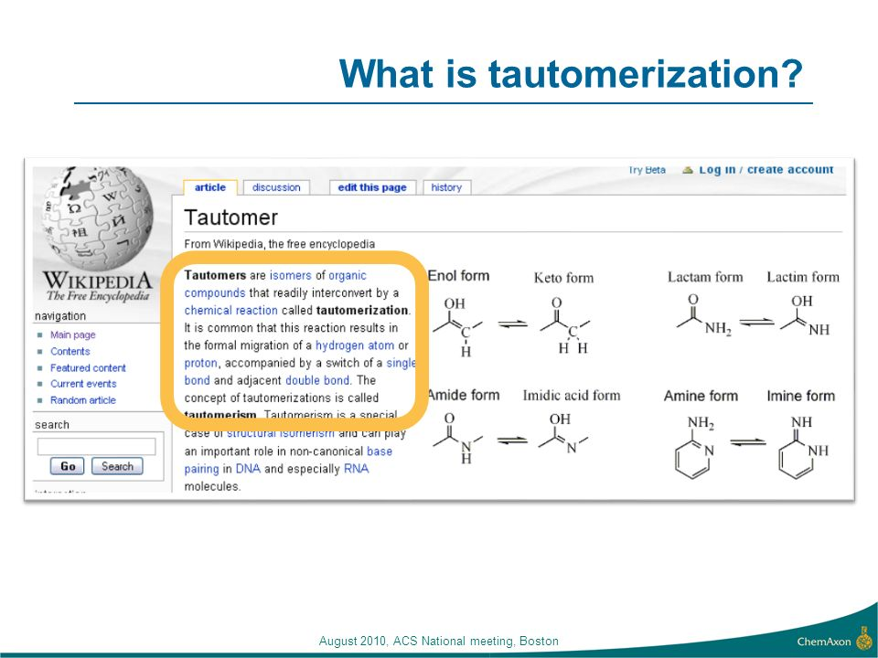 What is tautomerization