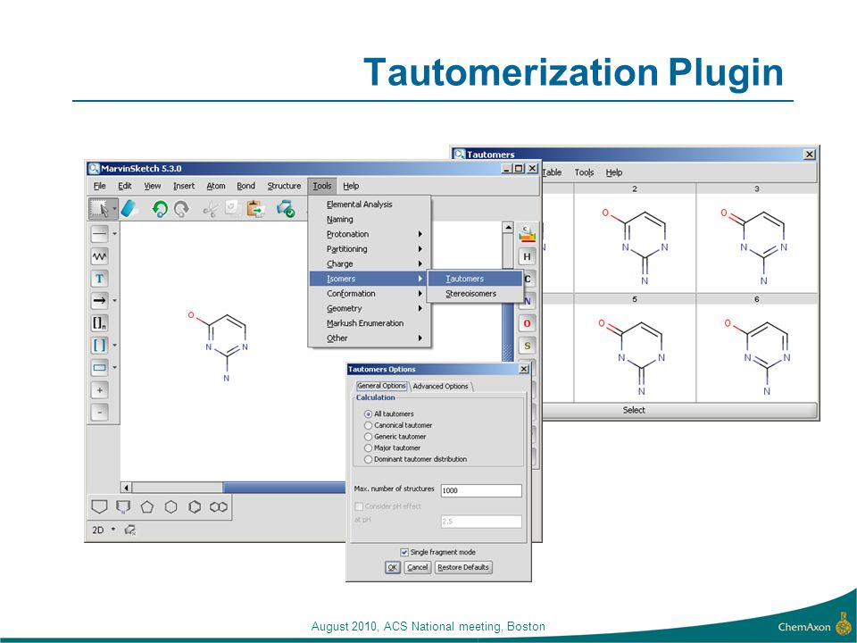 Tautomerization Plugin