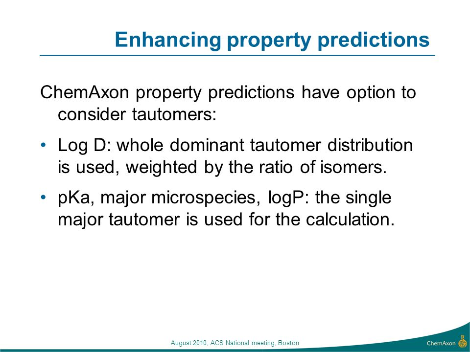 Enhancing property predictions