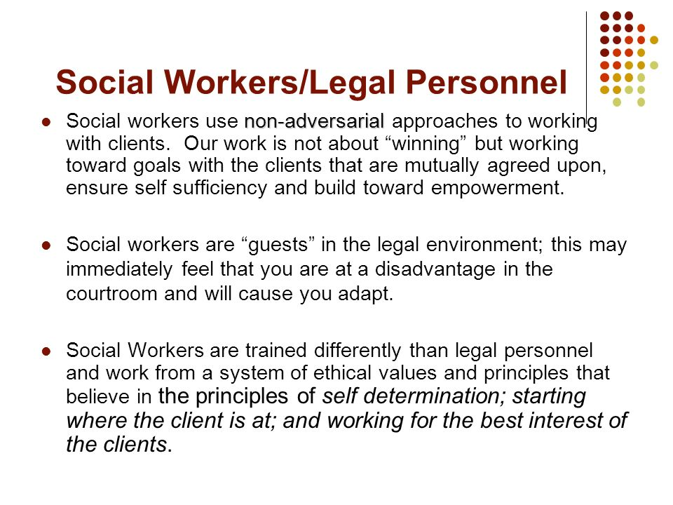 Social Workers/Legal Personnel