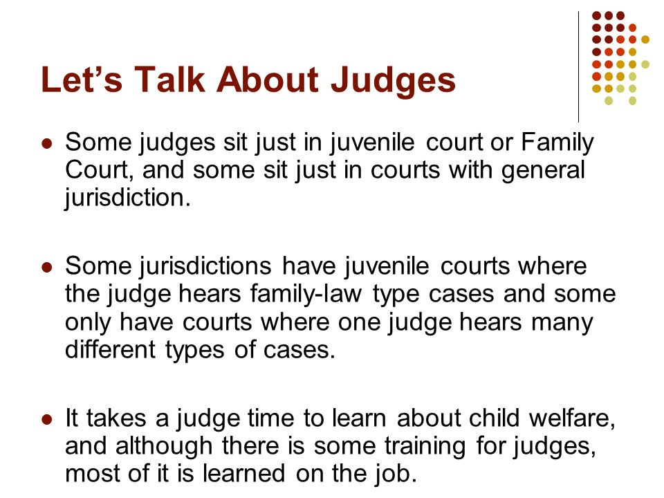 Let's Talk About Judges
