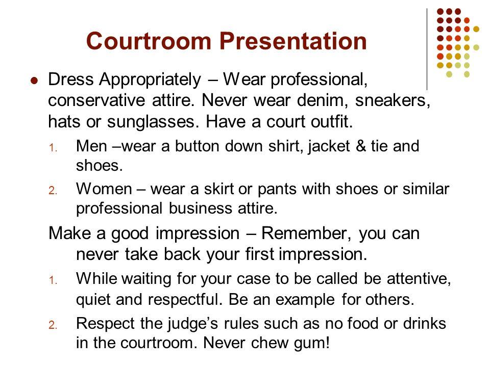 Courtroom Presentation