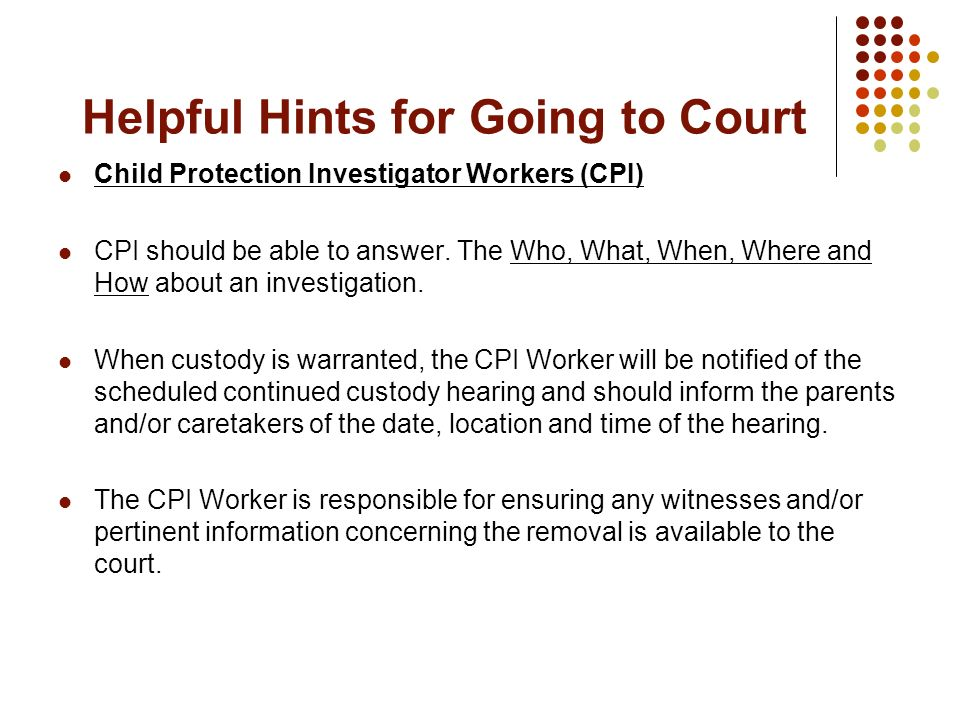 Helpful Hints for Going to Court