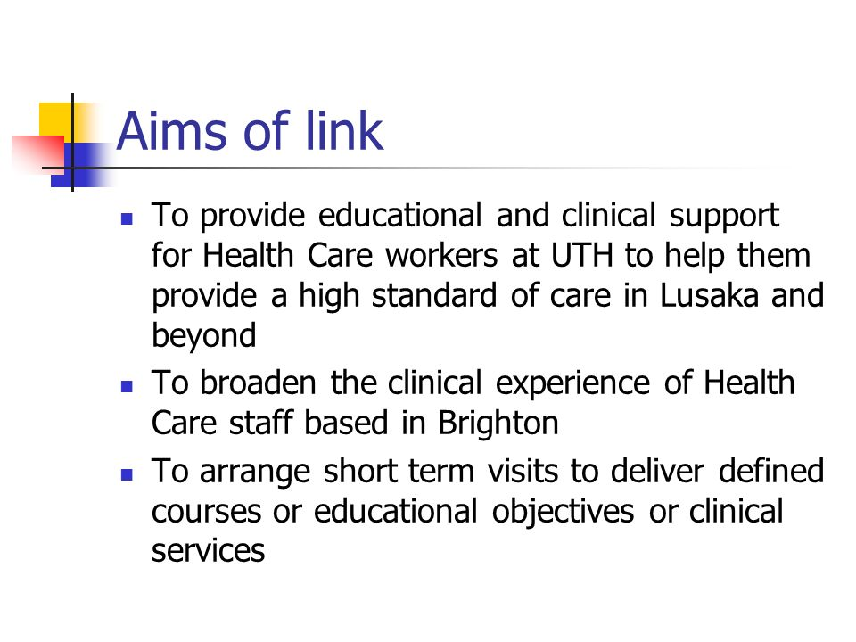 Aims of link