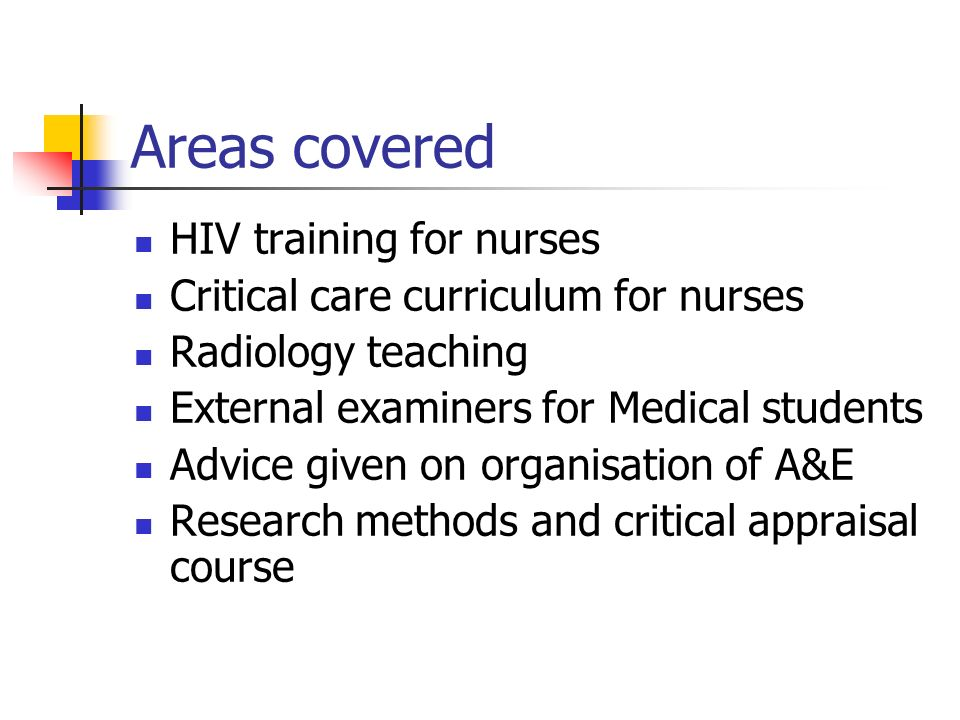 Areas covered HIV training for nurses