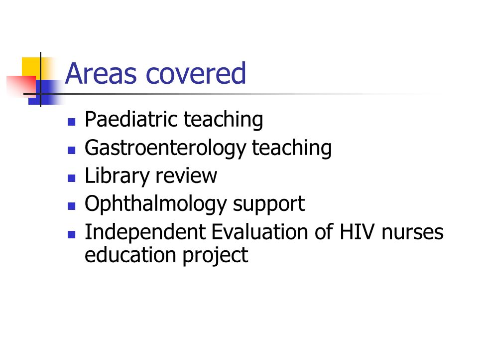 Areas covered Paediatric teaching Gastroenterology teaching