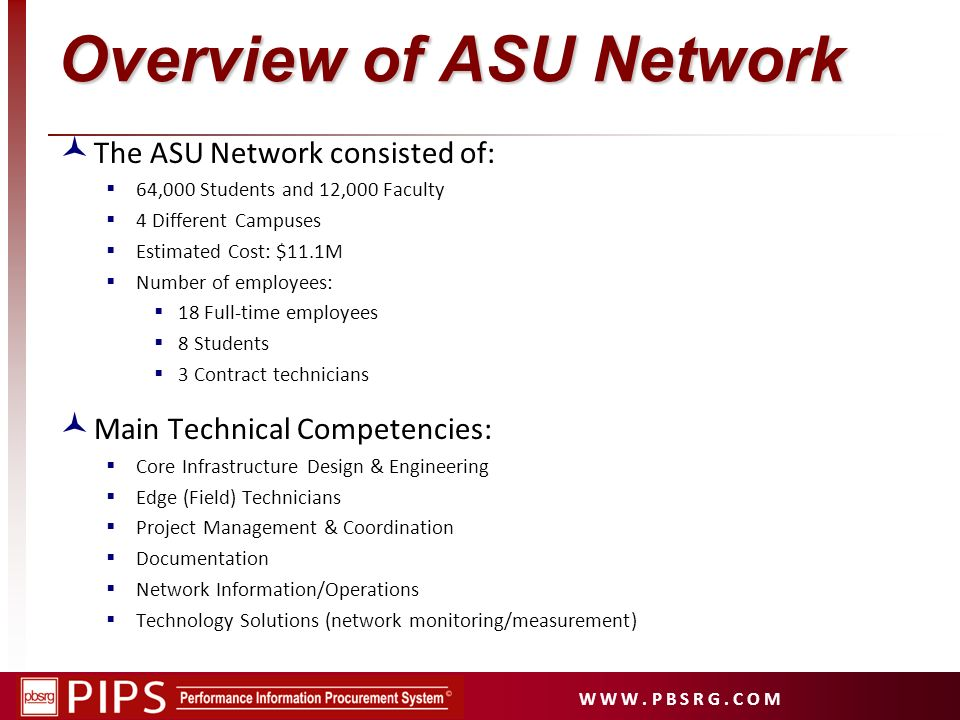 Overview of ASU Network