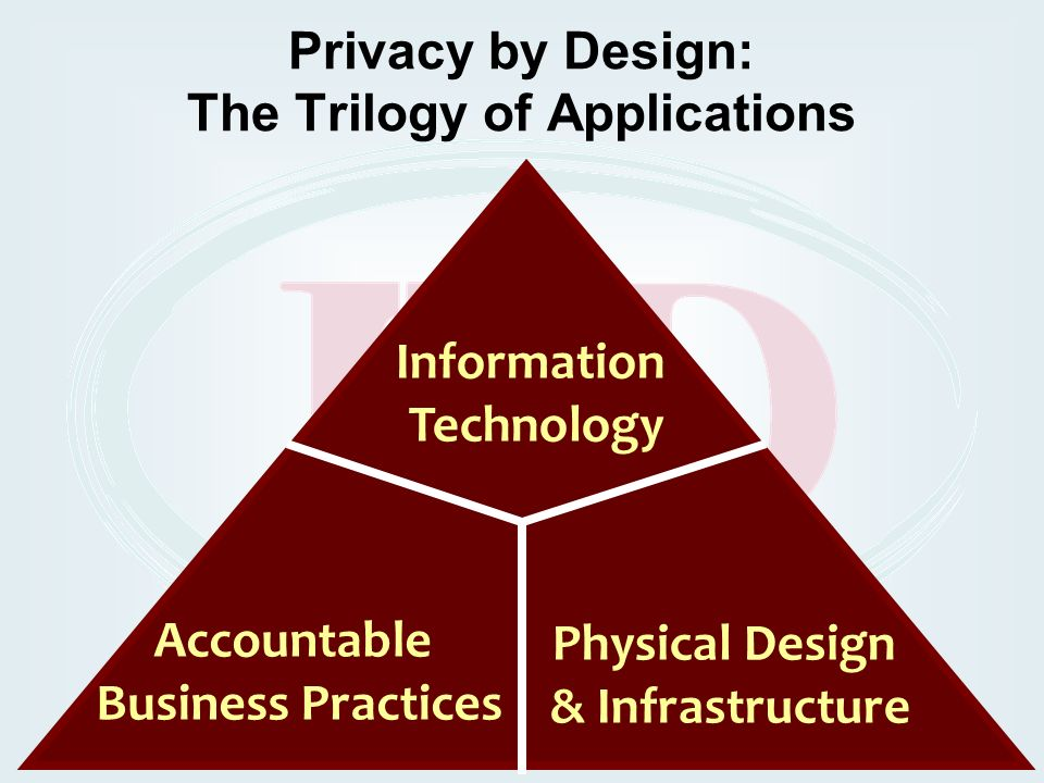 Privacy by Design: The Trilogy of Applications