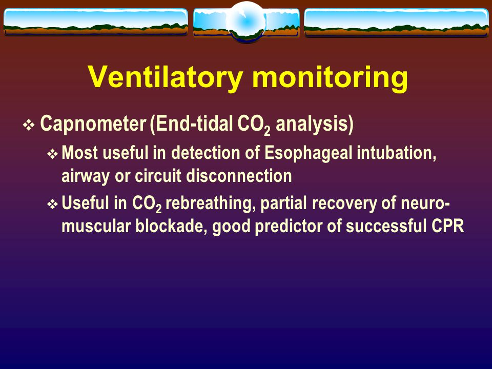 Ventilatory monitoring