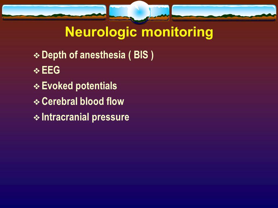Neurologic monitoring