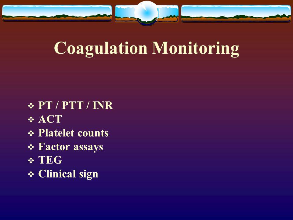 Coagulation Monitoring