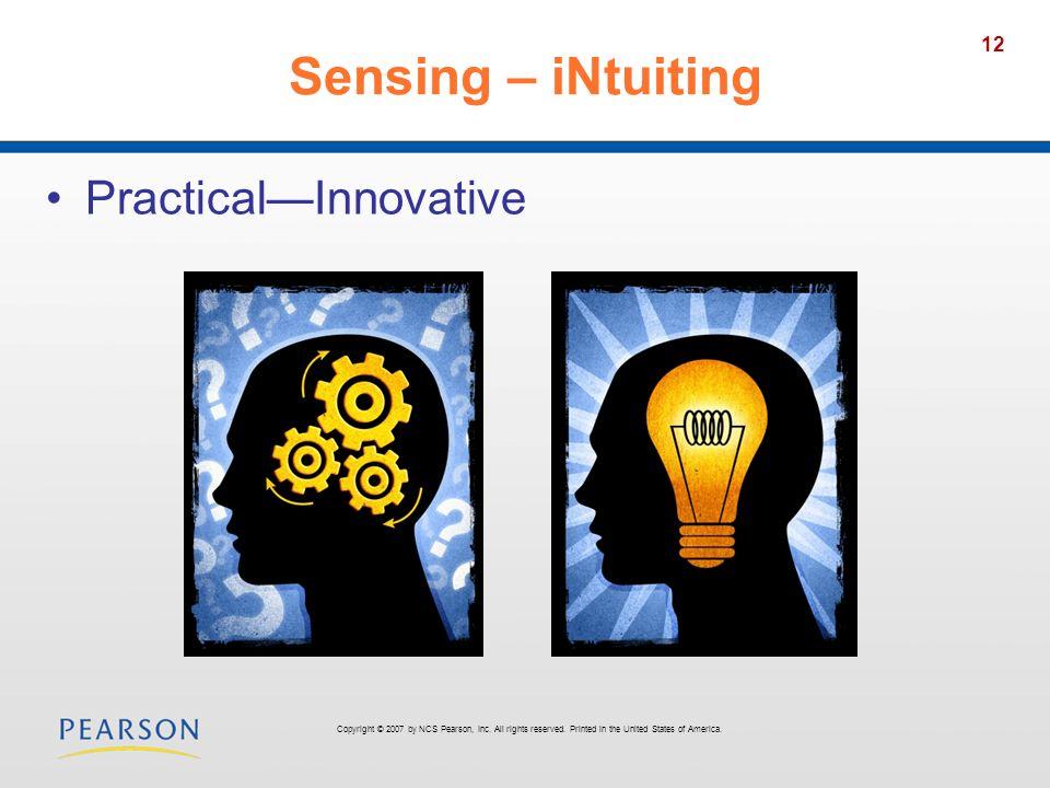 Sensing – iNtuiting Practical—Innovative