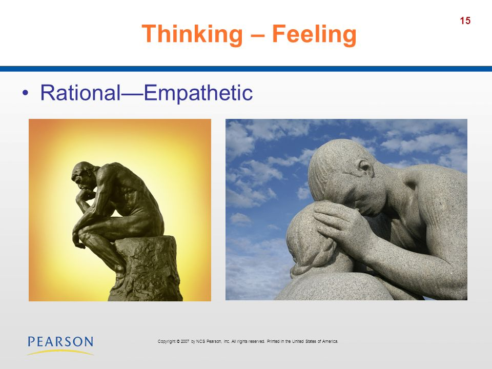 Thinking – Feeling Rational—Empathetic