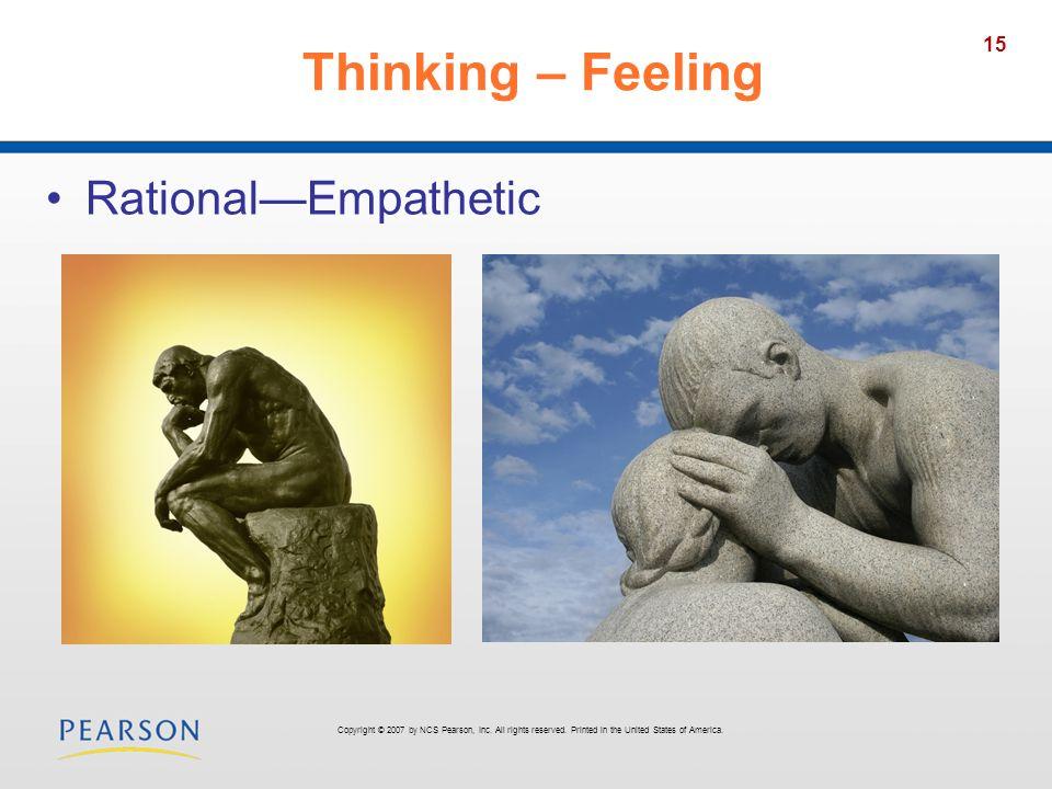 Thinking – Feeling Rational—Empathetic