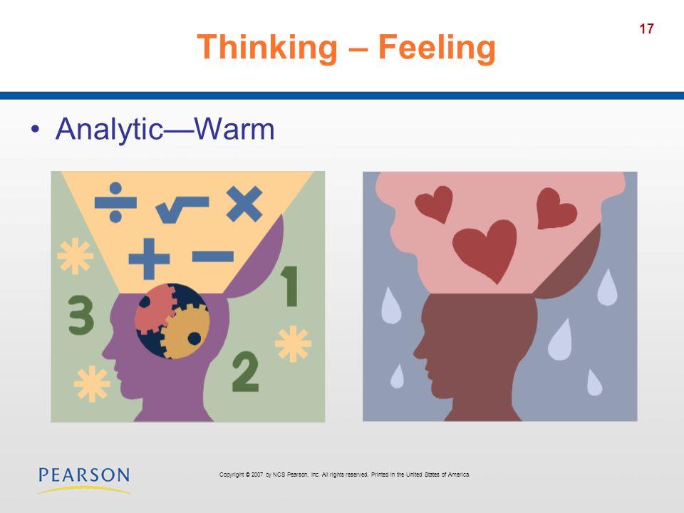Thinking – Feeling Analytic—Warm