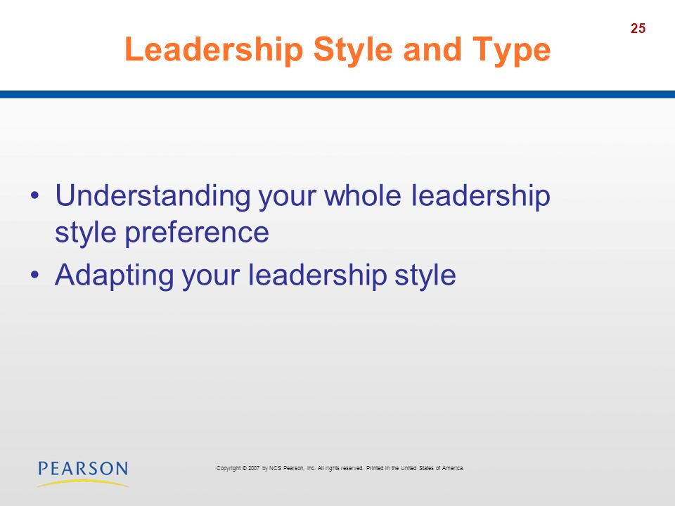 Leadership Style and Type