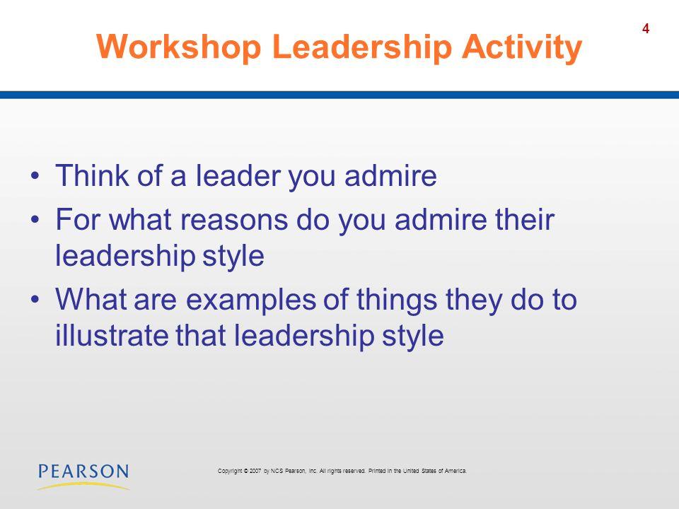 Workshop Leadership Activity