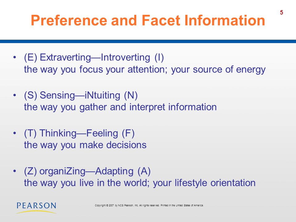 Preference and Facet Information