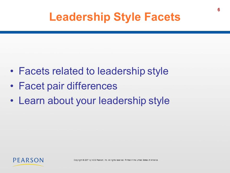 Leadership Style Facets