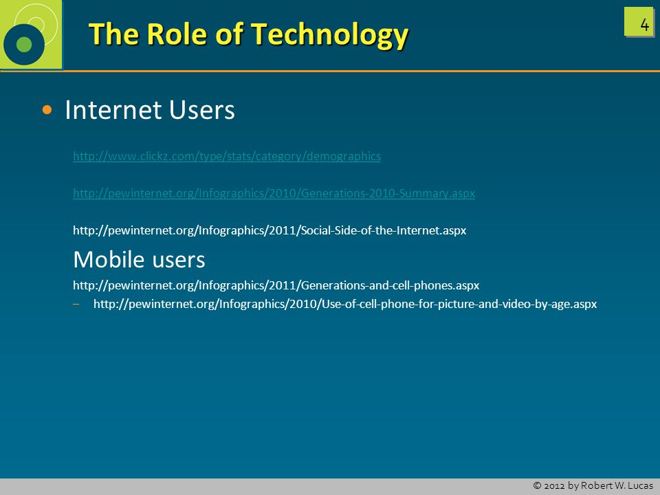 The Role of Technology Internet Users Mobile users