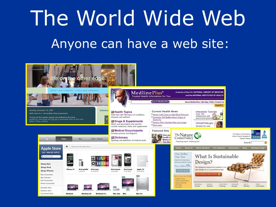 Anyone can have a web site: