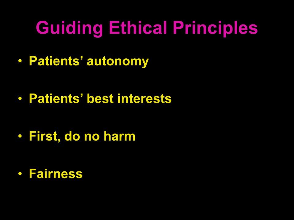 Guiding Ethical Principles