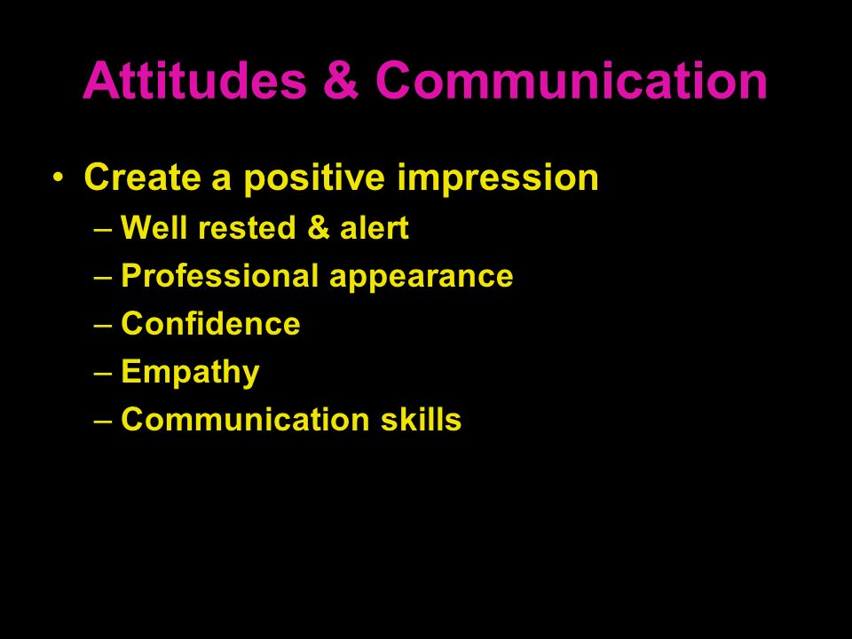 Attitudes & Communication