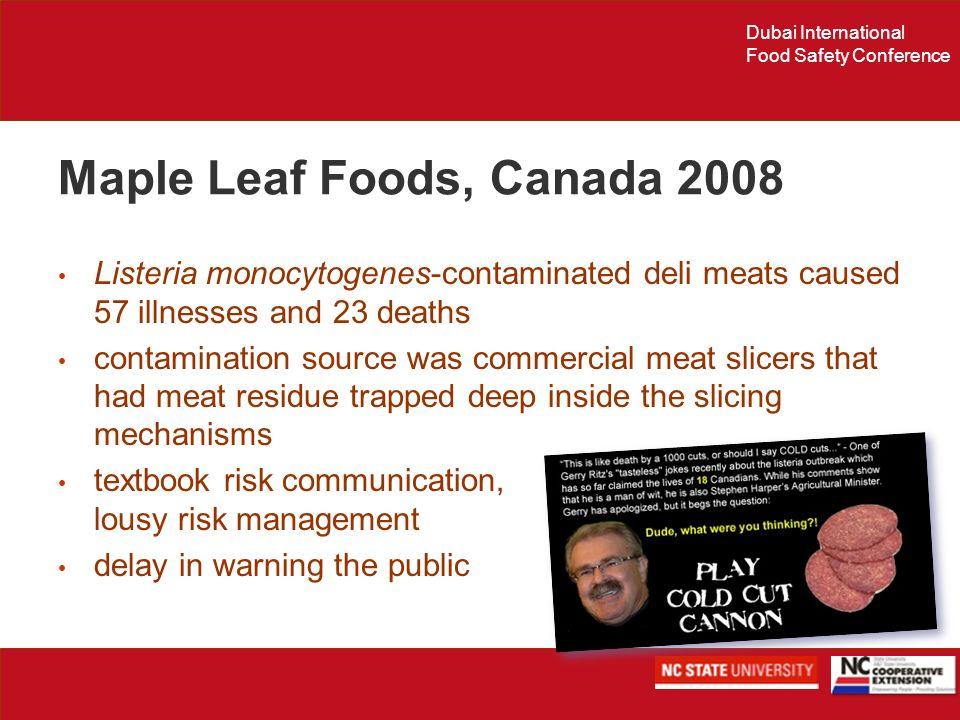 Maple Leaf Foods, Canada 2008