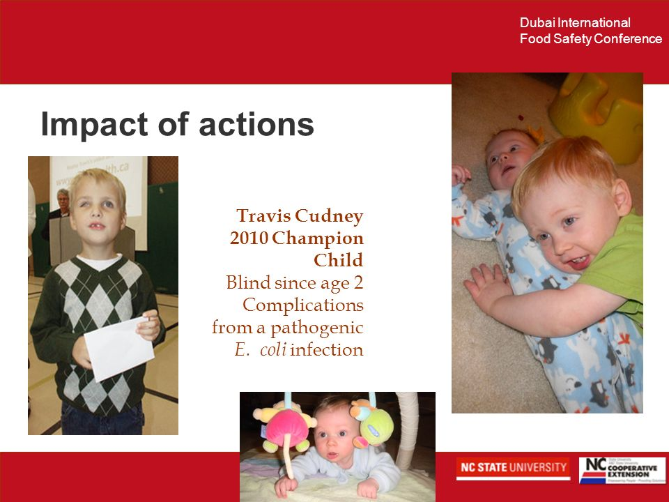 Impact of actions Travis Cudney 2010 Champion Child Blind since age 2