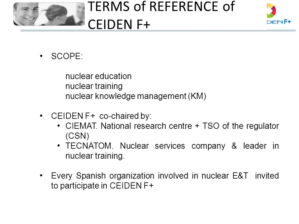 TERMS of REFERENCE of CEIDEN F+
