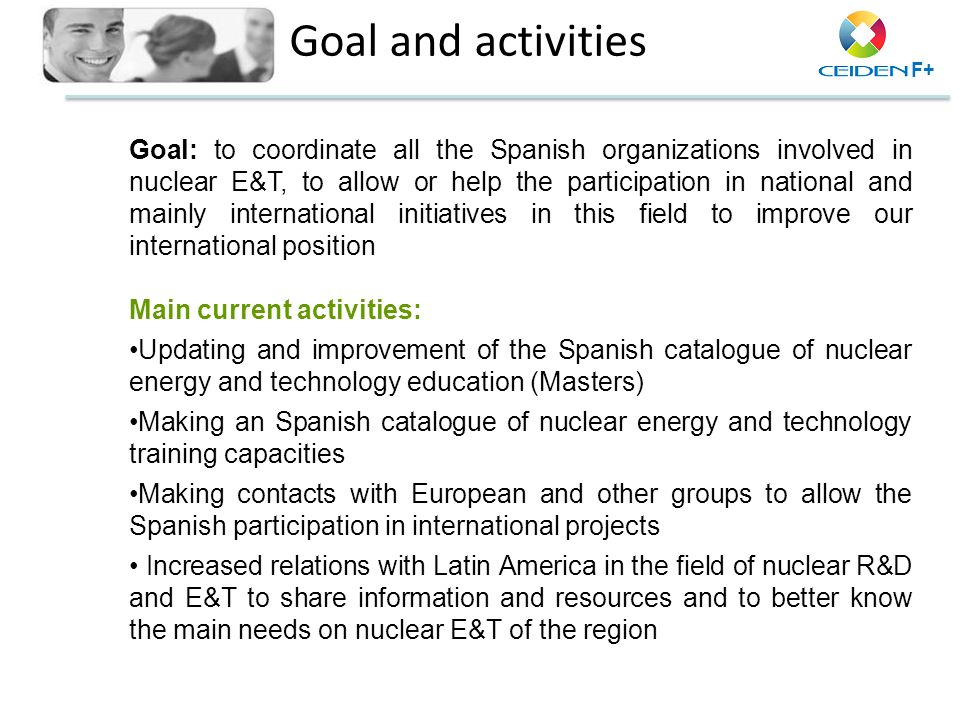 Goal and activities