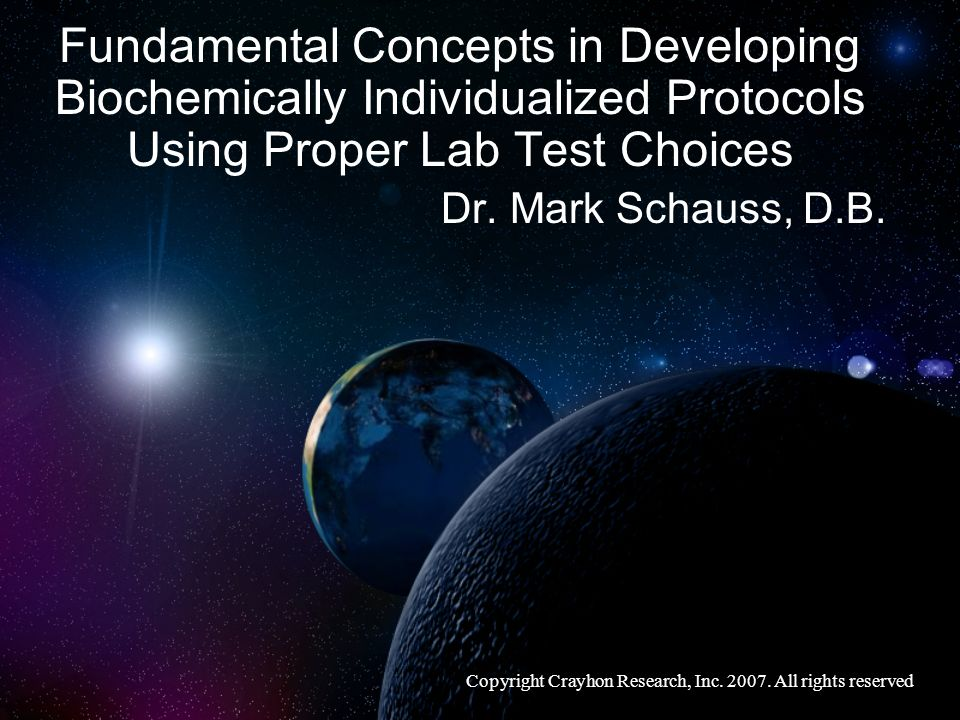 Fundamental Concepts in Developing Biochemically Individualized Protocols Using Proper Lab Test Choices