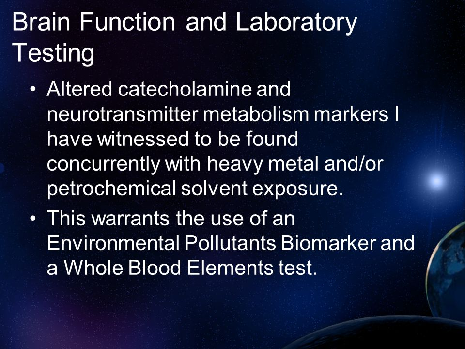 Brain Function and Laboratory Testing