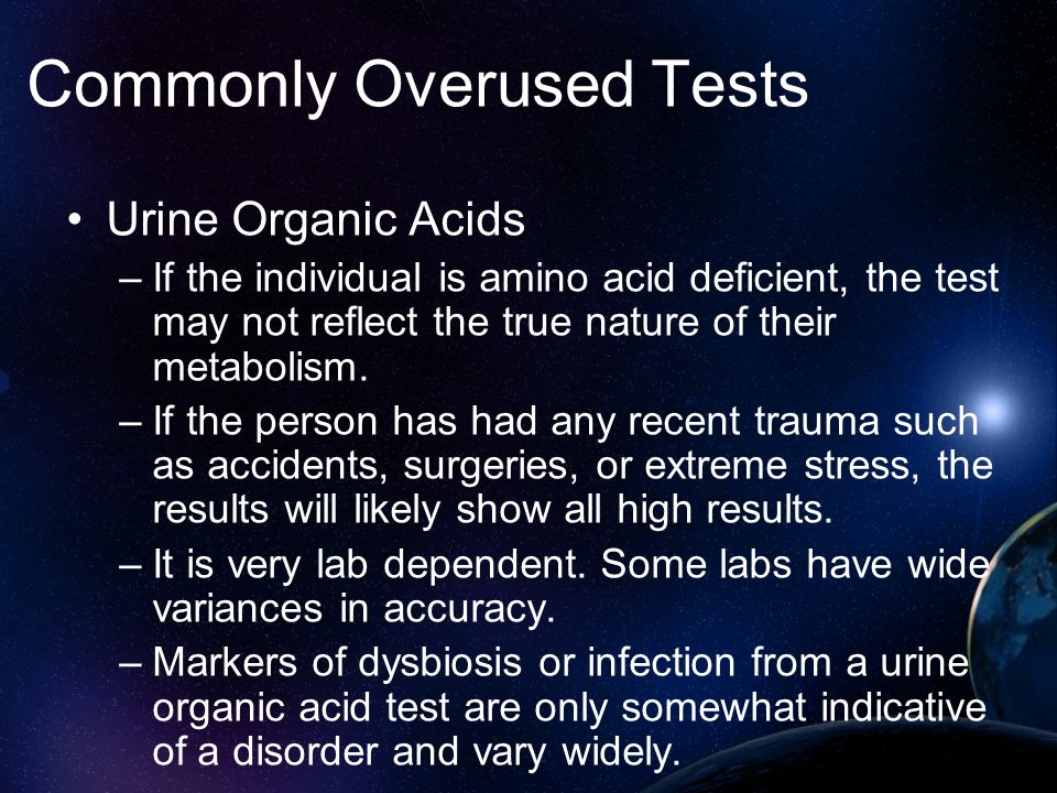 Commonly Overused Tests