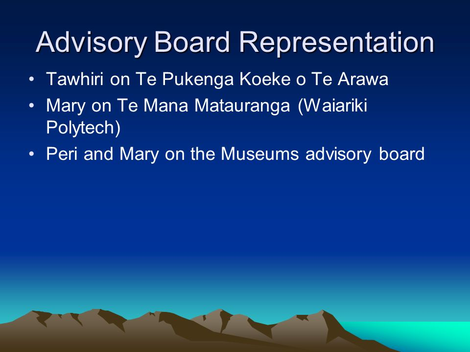 Advisory Board Representation