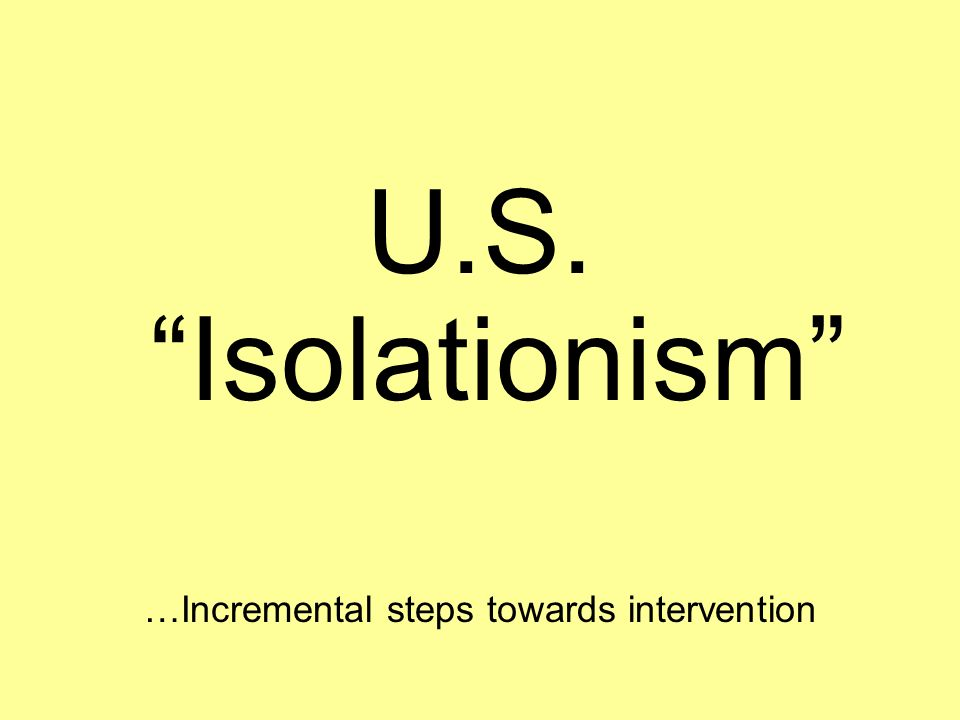 …Incremental steps towards intervention