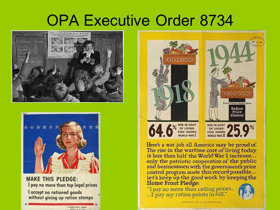 OPA Executive Order 8734