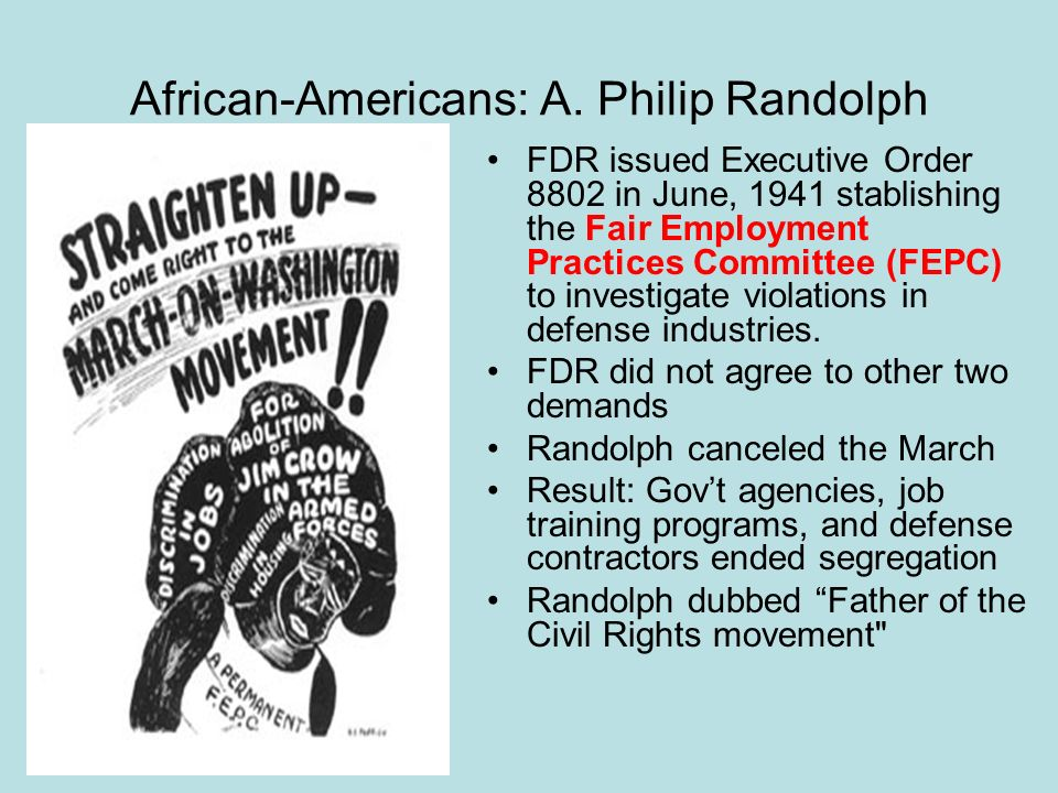 African-Americans: A. Philip Randolph