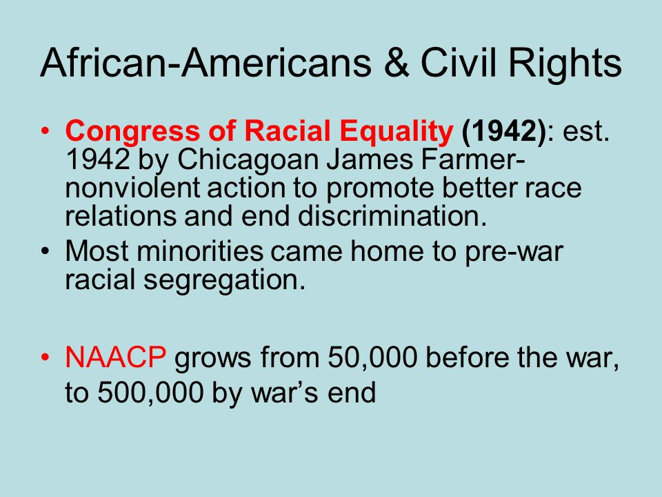 African-Americans & Civil Rights