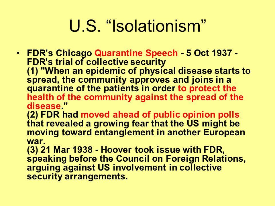 U.S. Isolationism