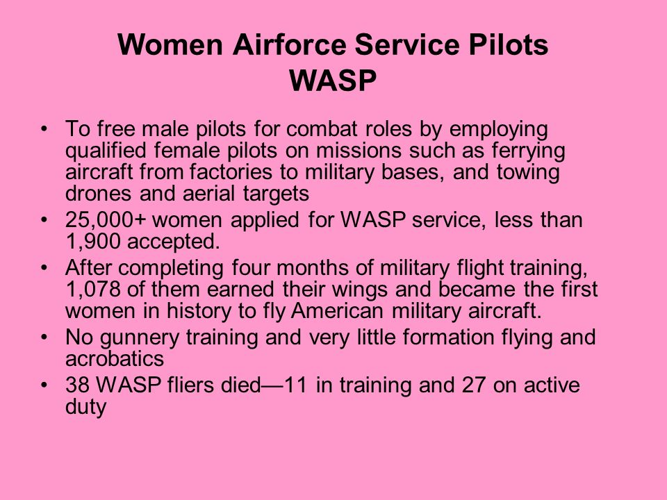 Women Airforce Service Pilots WASP
