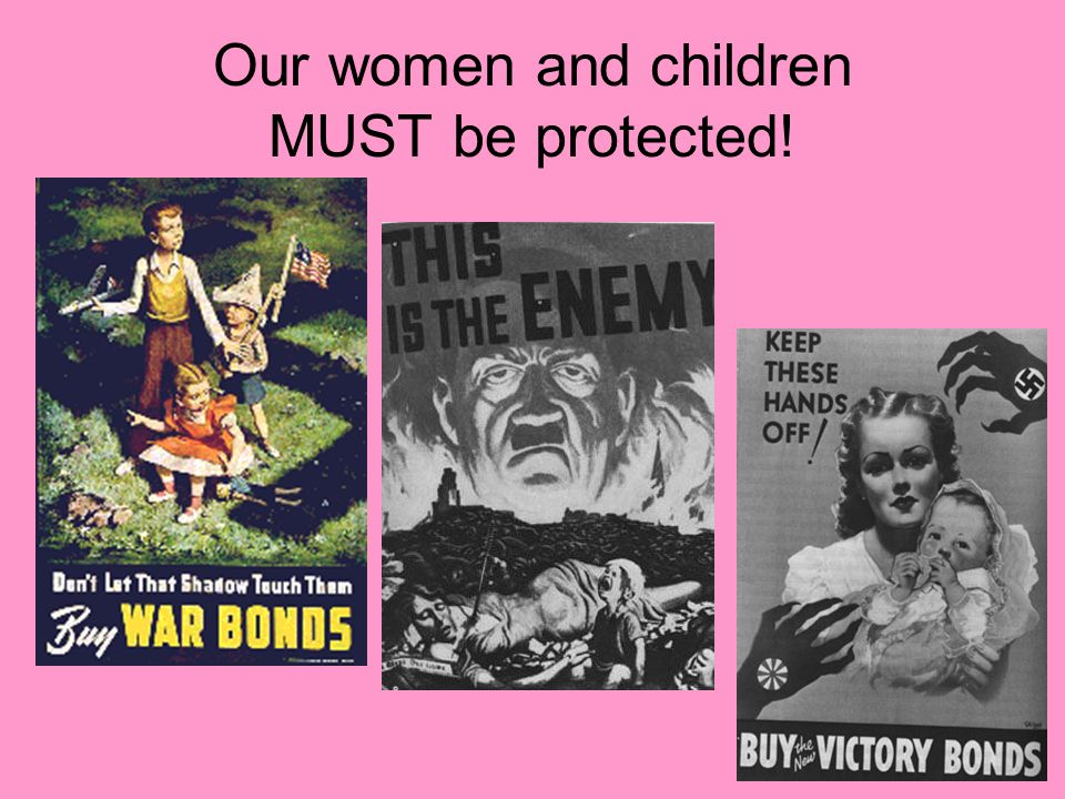 Our women and children MUST be protected!